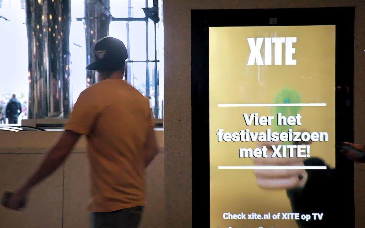 Der Werbungtreibende XITE nutzte MobPro und Broadsign für eine Kampagne in den Niederlanden (Foto: Broadsign)