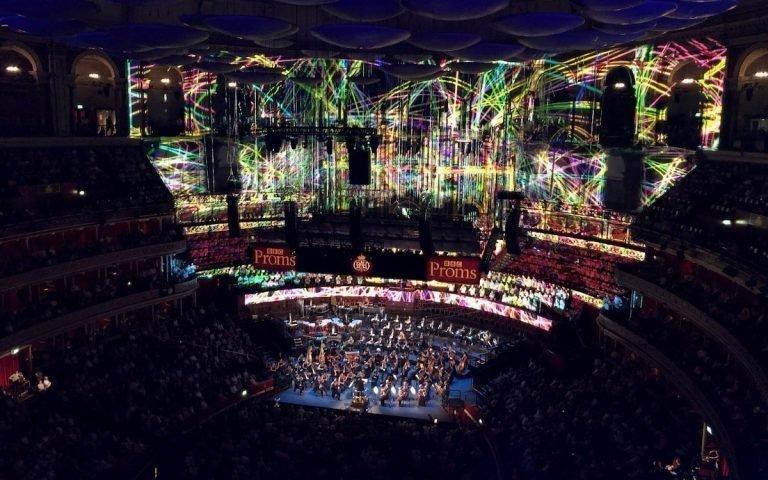 Die Projektionsshow war die bislang größte bei der berühmten Konzertreihe Proms (Foto: Barco)