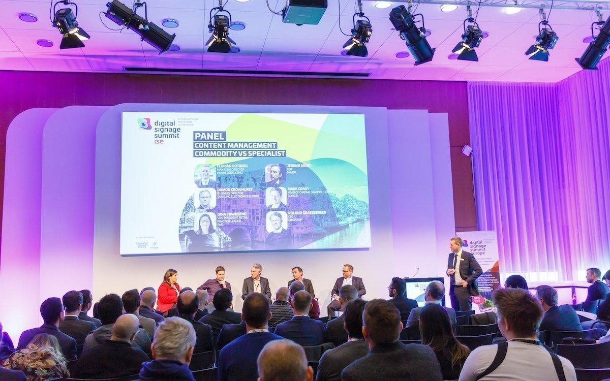 Der Digital Signage Summit (DSS) bei der ISE 2018 (Foto: ISE)