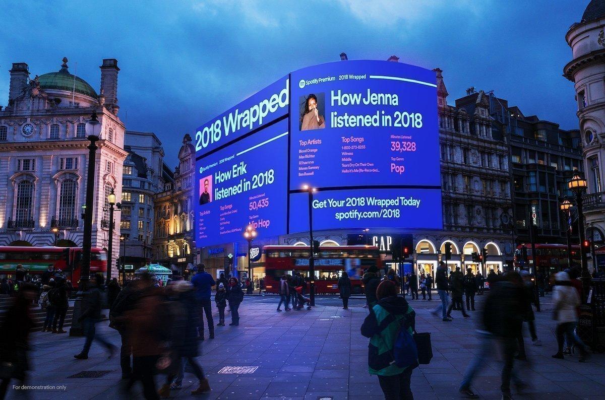 """Mit User Generated Content arbeitet die digitale Fortführung der """"Wrapped""""-Kampagne von Spotify (Foto: Grand Visual)"""