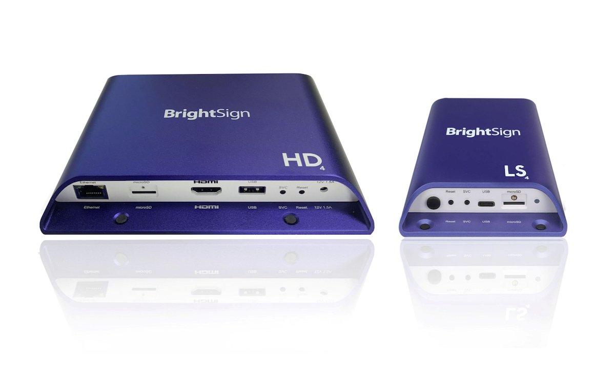 Neue BrightSign-Modelle HD und LS aus der aktuellen Serie 4 (Foto: BrightSign)