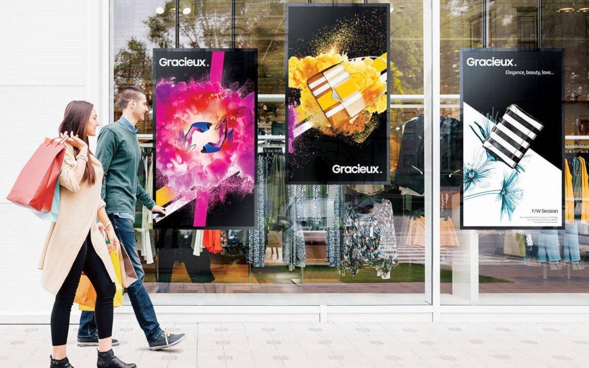 Samsung Doppelseitige Schaufensterdisplays (Foto: Samsung)