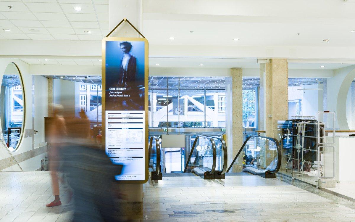 Digital Signage in Stockholms Luxuskaufhaus Nordiska Kompaniet (Foto: Visual Art)