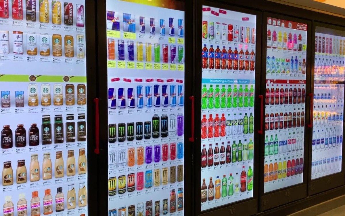 Cooler Screens bei Walgreens (Foto: Screenshot)