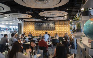 Faltblattanzeiger bei Beef & Liberty am Airport Hong Kong (Foto: Beef & Liberty)