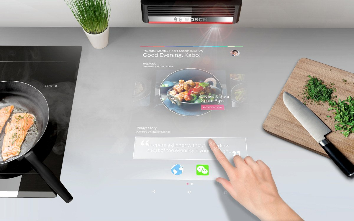 Bosch präsentiert IoT-Lösungen u.a. den PAI-Projektor (Foto: Bosch)