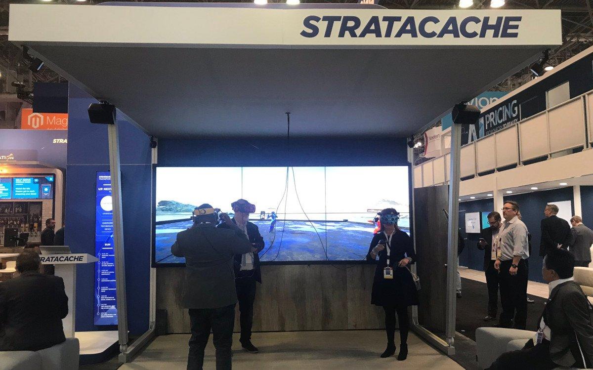 VR auf dem NRF-Showcase von Stratacache (Foto: Stratacache)
