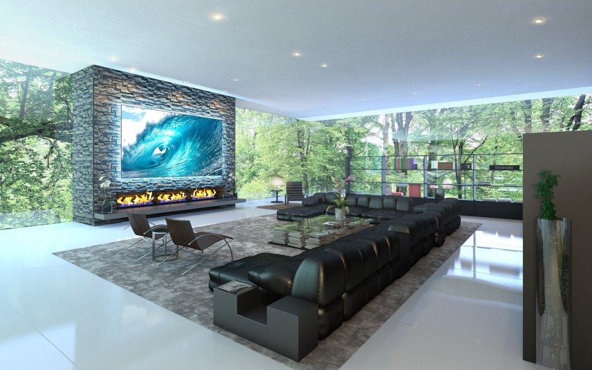 Projektion funktioniert mit der richtigen Leinwand auch bei Tageslicht (Foto: Screen Innovations)