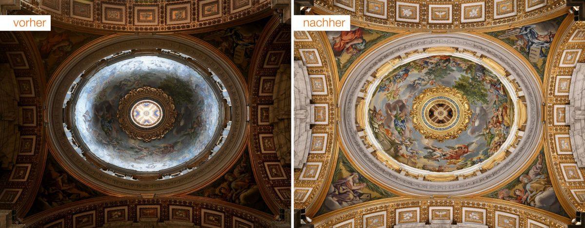 Bestimmte Details sind für die Besucher erst jetzt richtig sichtbar (Foto: Archivo Fotografico Fabbrica di San Pietro)
