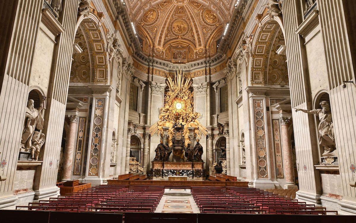 Der Petersdom nutzt nun Licht aus insgesamt 100.000 Leuchtdioden (Foto: Archivo Fotografico Fabbrica di San Pietro)