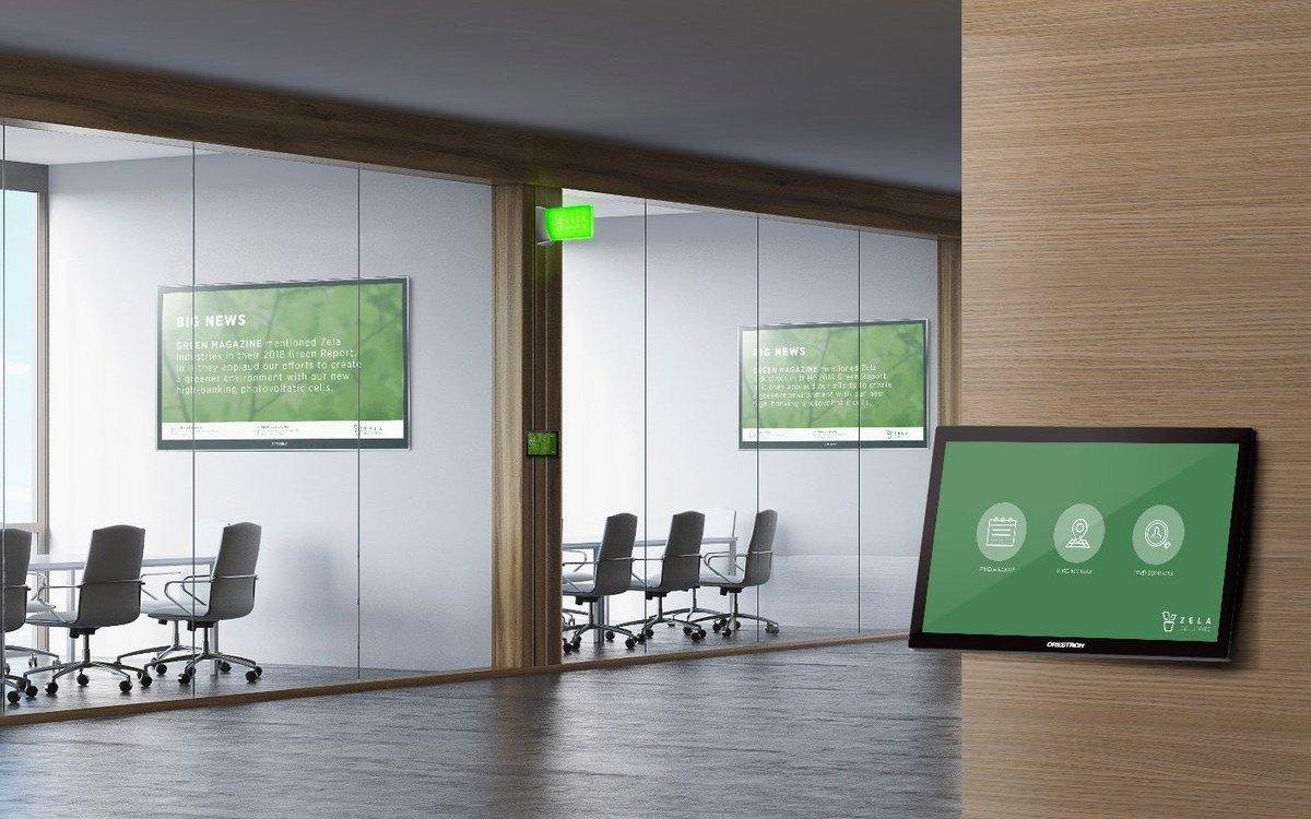 Collaboration und Door Signs treffen auf Digital Signage (Foto: Crestron)