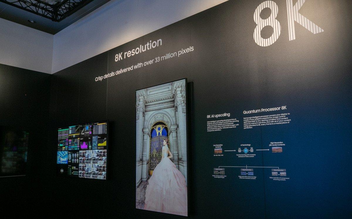 Samsung präsentierte 8k Upscaling (Foto: Samsung)