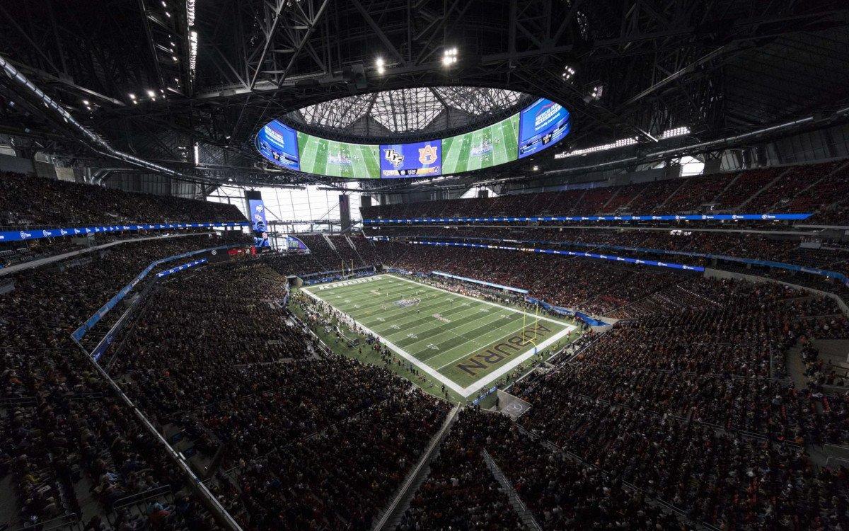 Super Bowl LED-Ring im Mercedes Benz Stadium Atlanta (Foto: Mercedes Benz Stadium)
