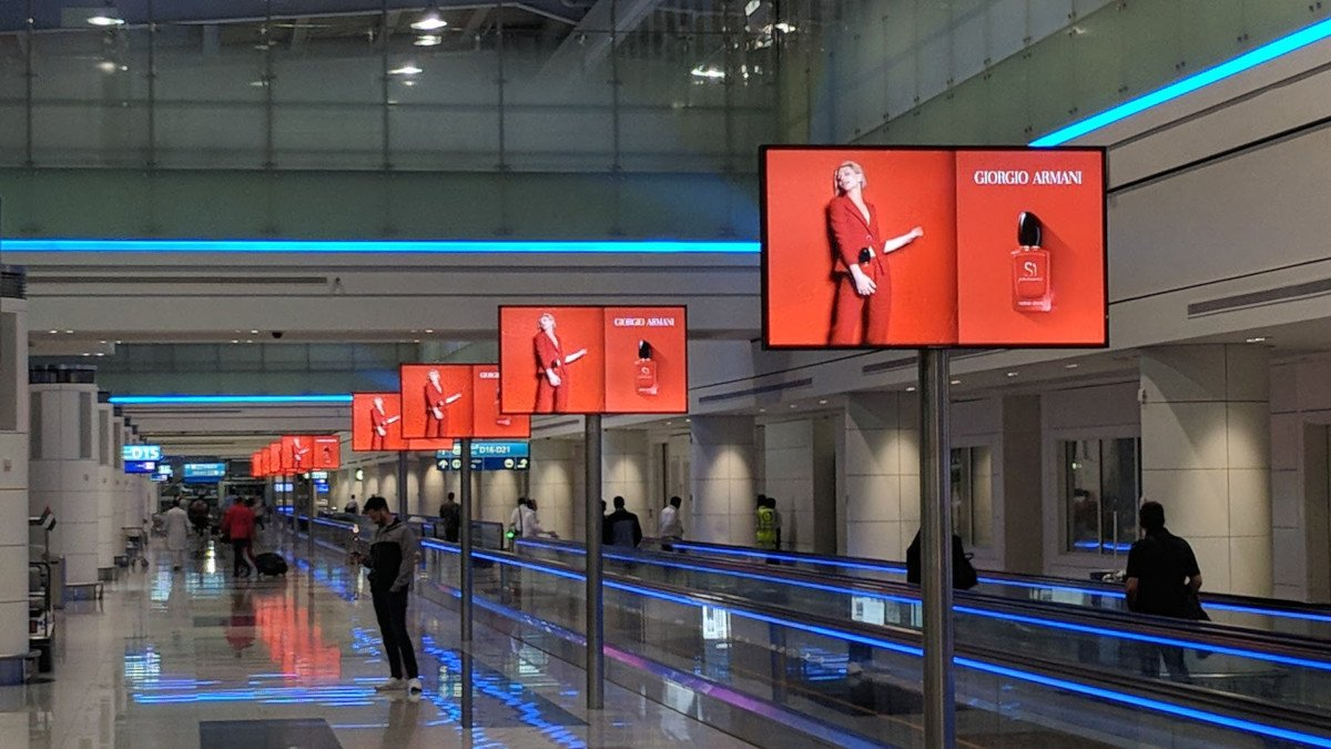 JC Decaux Netzwerk am Flughafen Dubai (Foto: invidis)