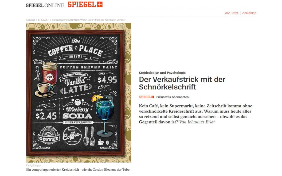 Spiegel Kreidezeit Artikel (Foto: Screenshot SPON)