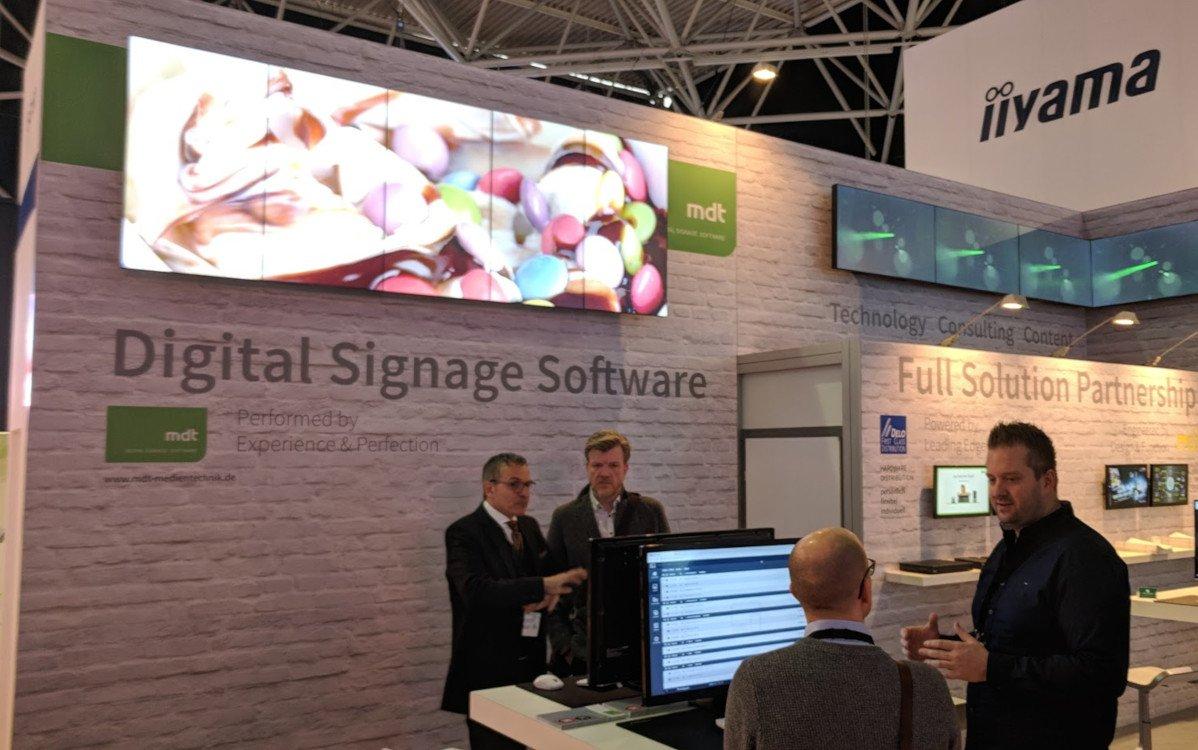 MDT Digital Signage Software auf der ISE (Foto: invidis)