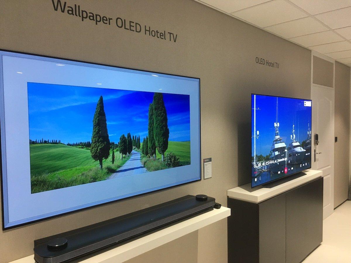 Auch im Bereich Hotel TV zeigte LG Lösungen mit OLED Panels (Foto: invidis)
