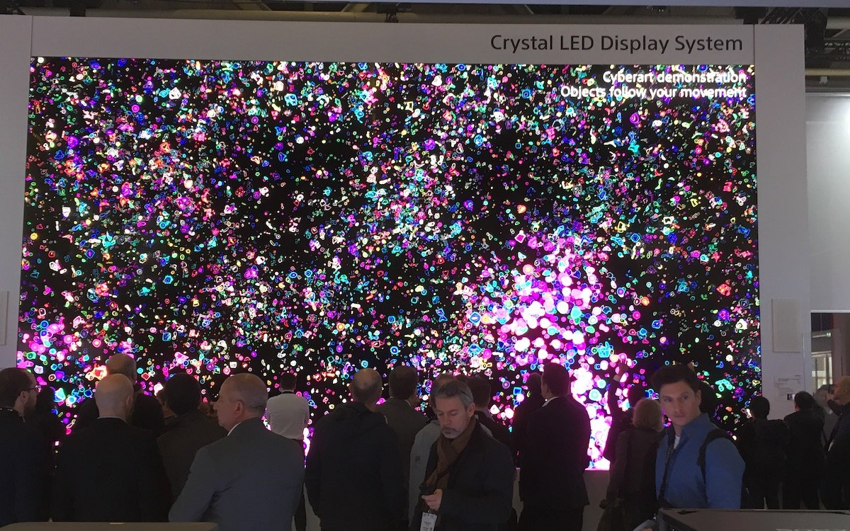 ISE 2019: Crystal LED am Stand von Sony (Foto: invidis)