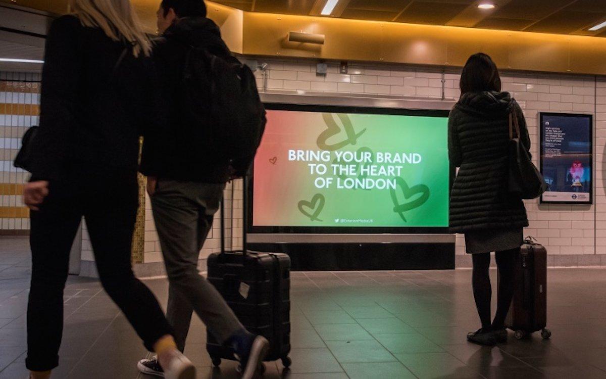 DooH-Medien in Londons U Bahnen werden von Exterion Media vermarktet (Foto: Exterion Media)