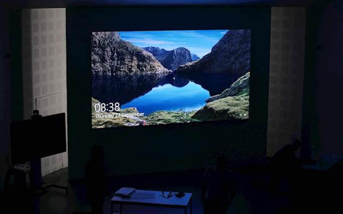 Interaktiv und auf Basis von LED arbeitet die neue Lösung für den großen Hörsaal (Foto: Optoma)