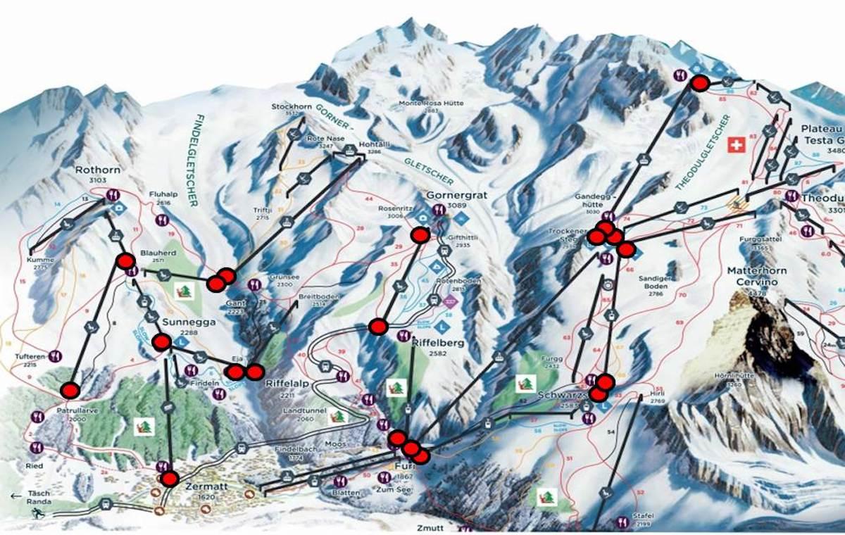 Karte mit Standorten (Grafik: APG SGA Mountain)