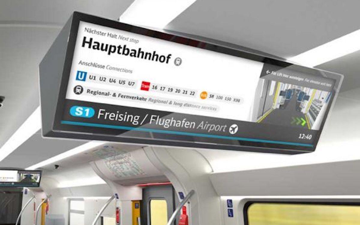 Kennze ja aus Berlin oder der U-Bahn in München und bald auch in deren S Bahn: Fahrgast TV auf Doppel-Screen (Foto: S Bahn 2020 München)