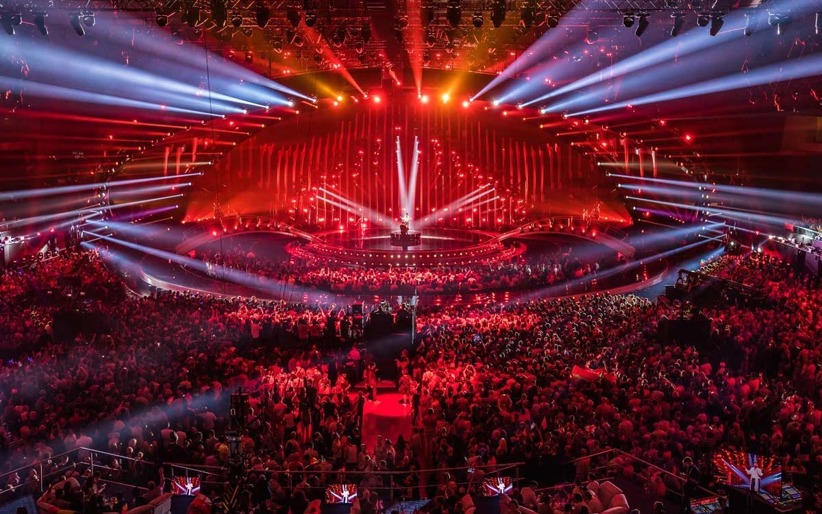 Lichtshow beim ESC 2018 in Lissabon (Foto: Osram / Ralph Larmann)