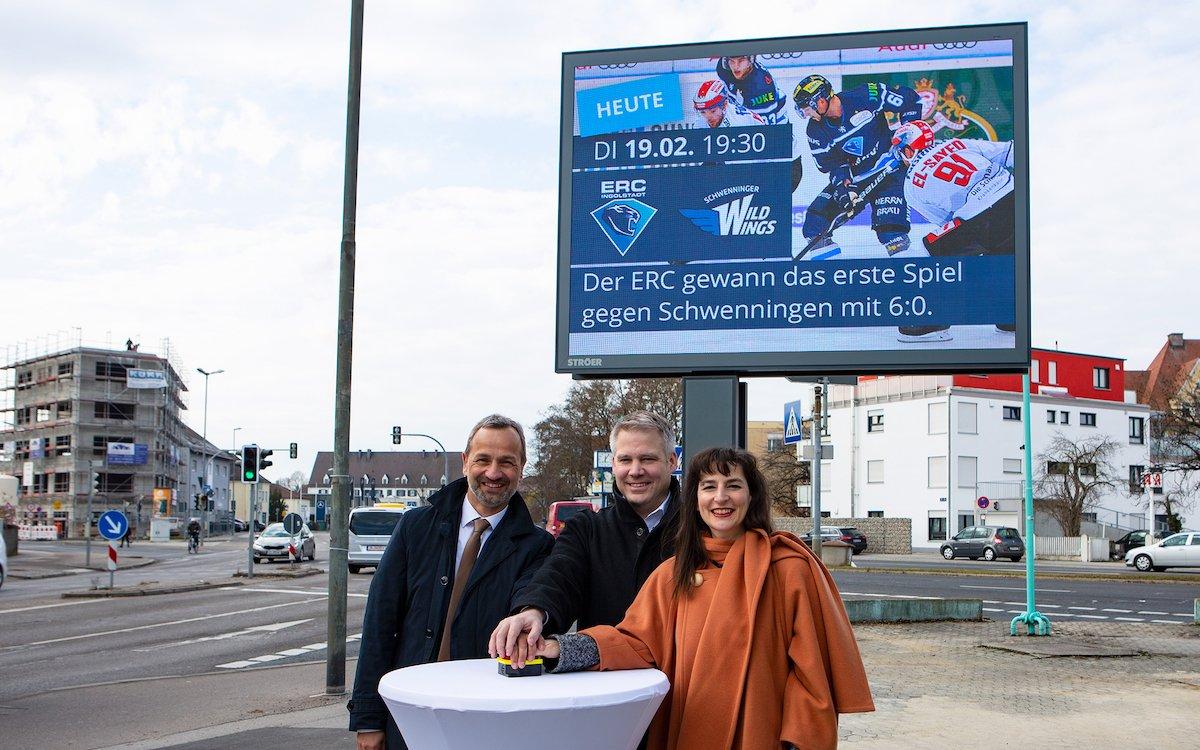 Mit 6 Screens hat Ingolstadt als erste bayerische Stadt die digitalen Stadtinformationsanlangen von Ströer installiert (Foto: Ströer)