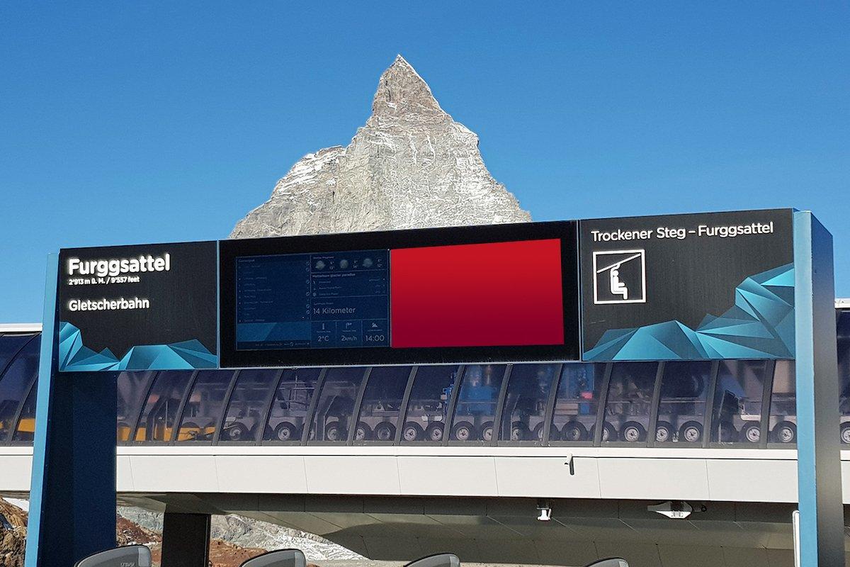 Neue Screens am Furgsattel (Foto: APG SGA Mountain)