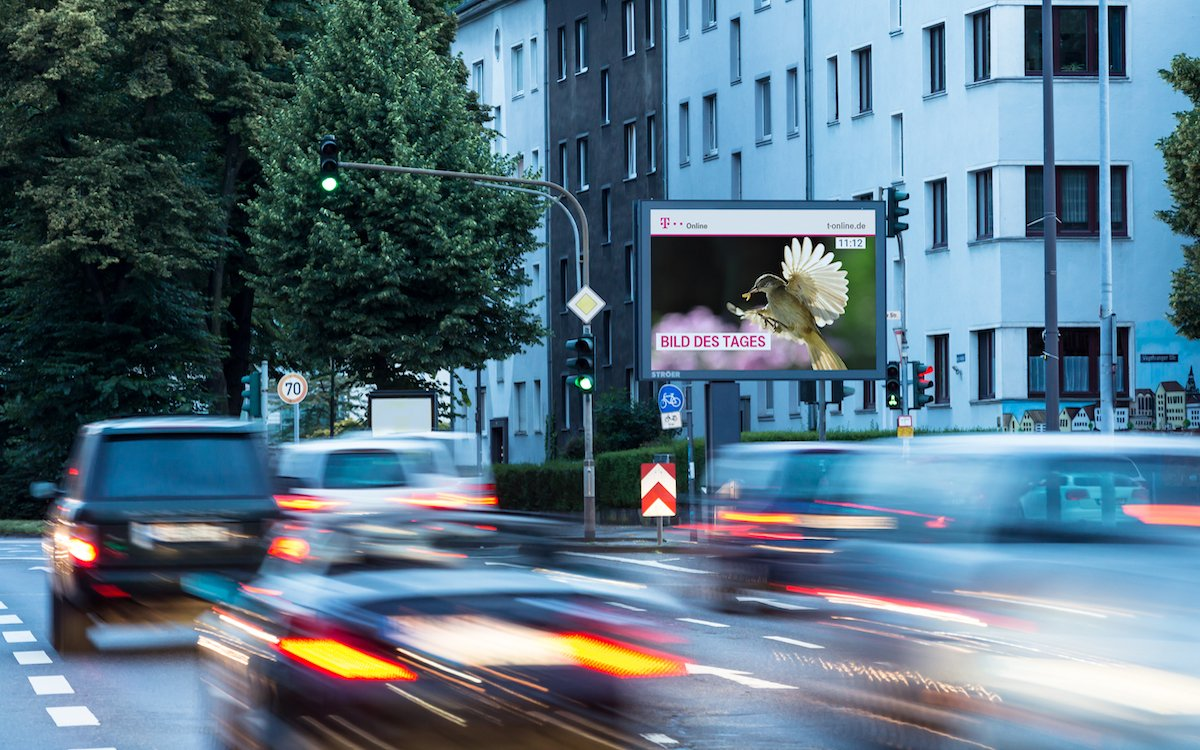 Roadside LED Screen von Ströer (Foto: Ströer)