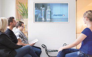 Spot für Meridol im Programm von TV-Wartezimmer (Foto: TV-Wartezimmer)