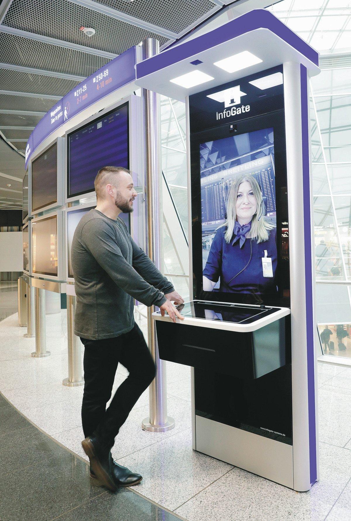 Nun auch am Flughafen Frankfurt - videobasierte Infogate-Terminals (Foto: Fraport)