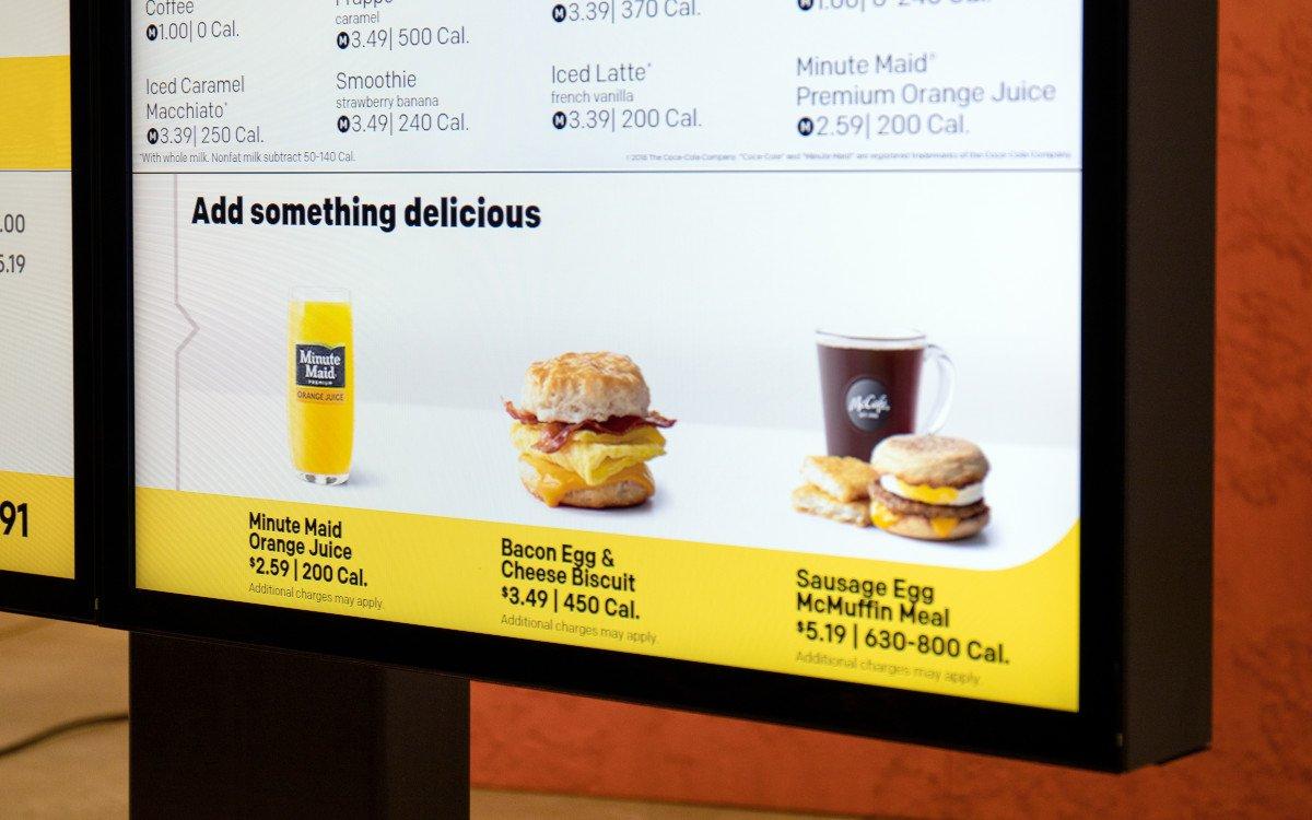 McDonalds Menüboard mit Dynamic Yield (Foto: McDonalds)