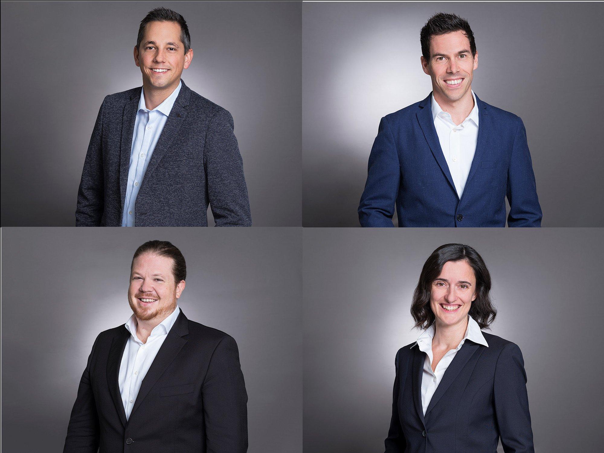 Neue Geschäftsleitung bei Screenfoodnet (S. Jauck, T. Amrein, P. Farine, J. Vielmi-Farine (Fotos: Screenfoodnet)