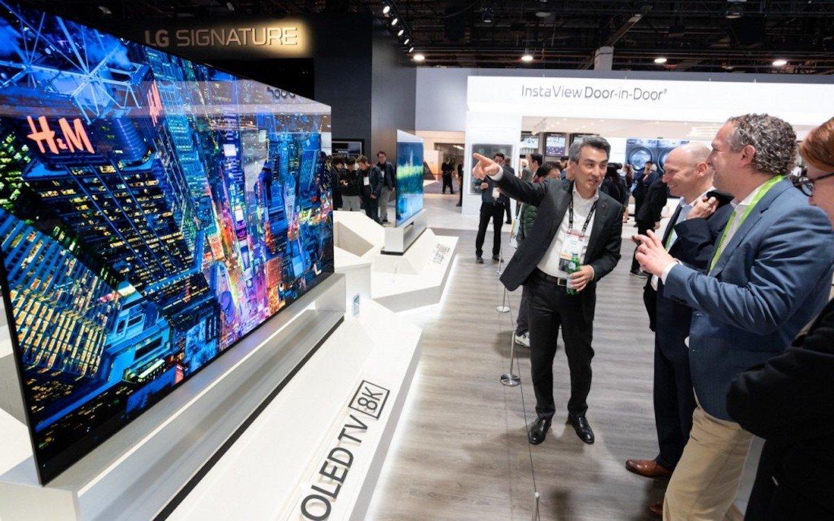 88-Zöller von LG mit 8K Auflösung auf der CES 2019 (Foto: LG Electronics)