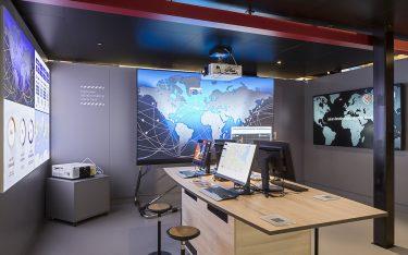 Beispiel für den Einsatz von Hiperwall auI dem NEC-Stand auf der ISE 2019 (Foto: NEC)