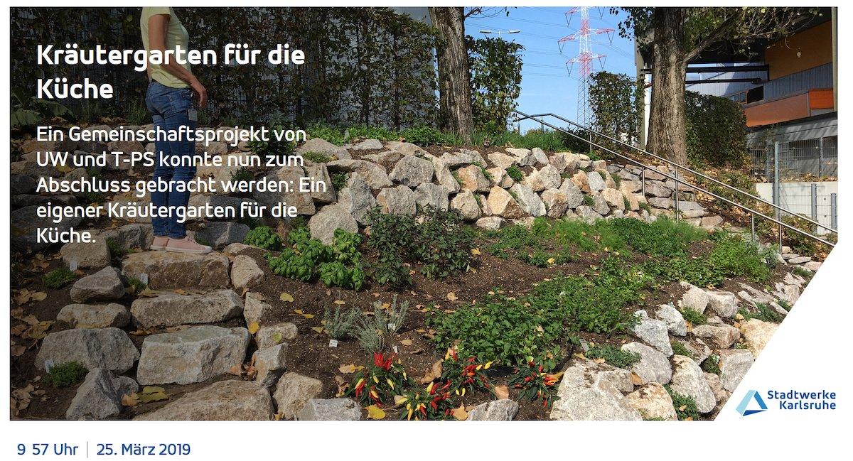 Beispiel für eines der vielen Themen, die im Unternehmen digital verbreitet werden (Foto: Stadtwerke Karlsruhe)