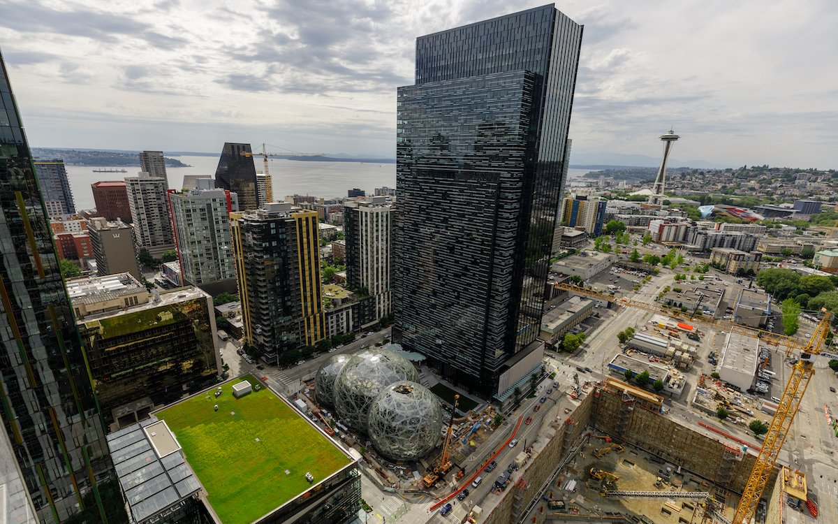 Blick auf den Amazon Campus in Seattle, die Zentrale des Weltkonzerns (Foto: Amazon / Jordan Stead)