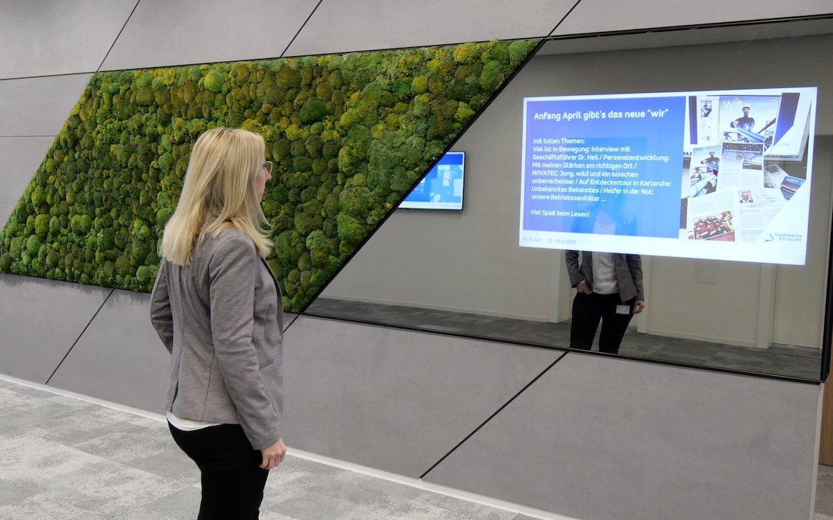 Die Stadtwerke Karlsruhe nutzen DS für Zwecke der internen digitalen Kommunikation (Foto: Stadtwerke Karlsruhe)