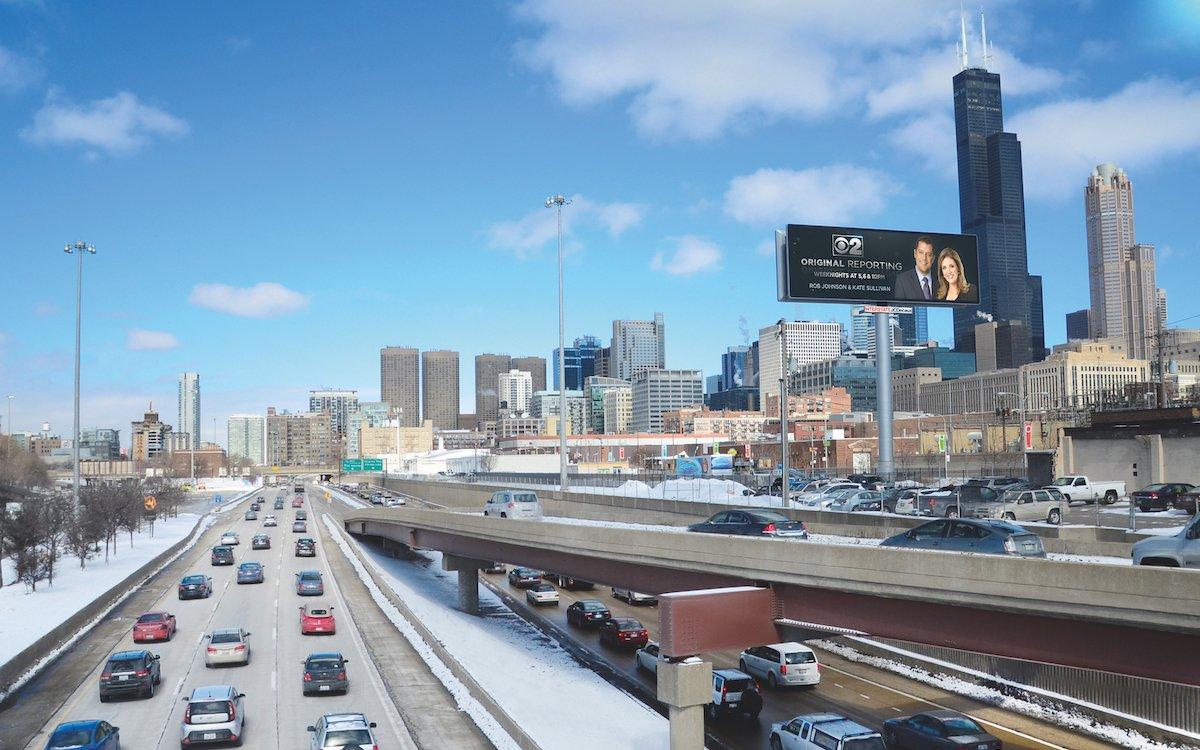 Digital Billboard von JCDecaux in Chicago (Foto: JCDecaux)