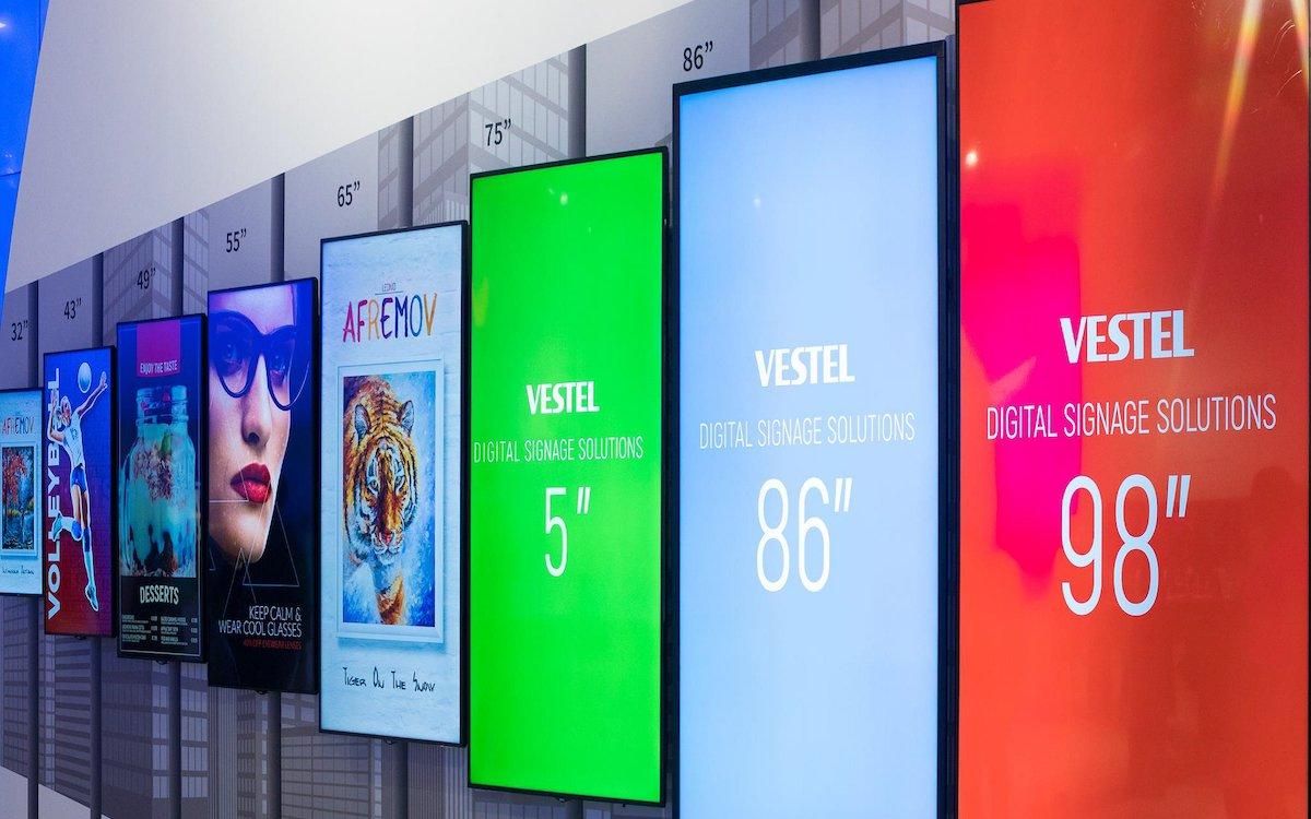Digital Signage Screens von Vestel (Foto: Comm-Tec)