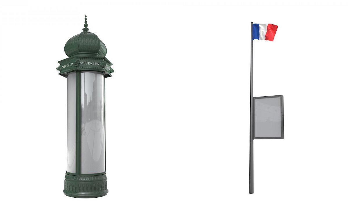 Neue Werbeträger für Paris kommen in klassischem Design (Foto: JCDecaux)