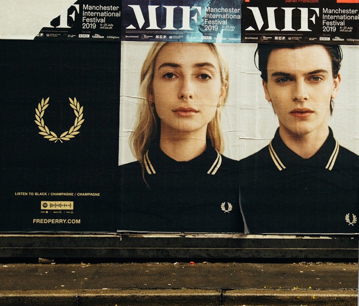 Plakatkampagne von FP in Manchester (Foto: Fred Perry)