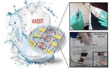 Schematische Darstellung des OLED Devices (Fotos, Grafiken: KAIST)