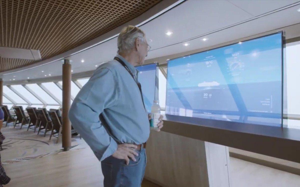 Digital Signage auf Schiffen der Holland America Linne (Foto: Screenshot)