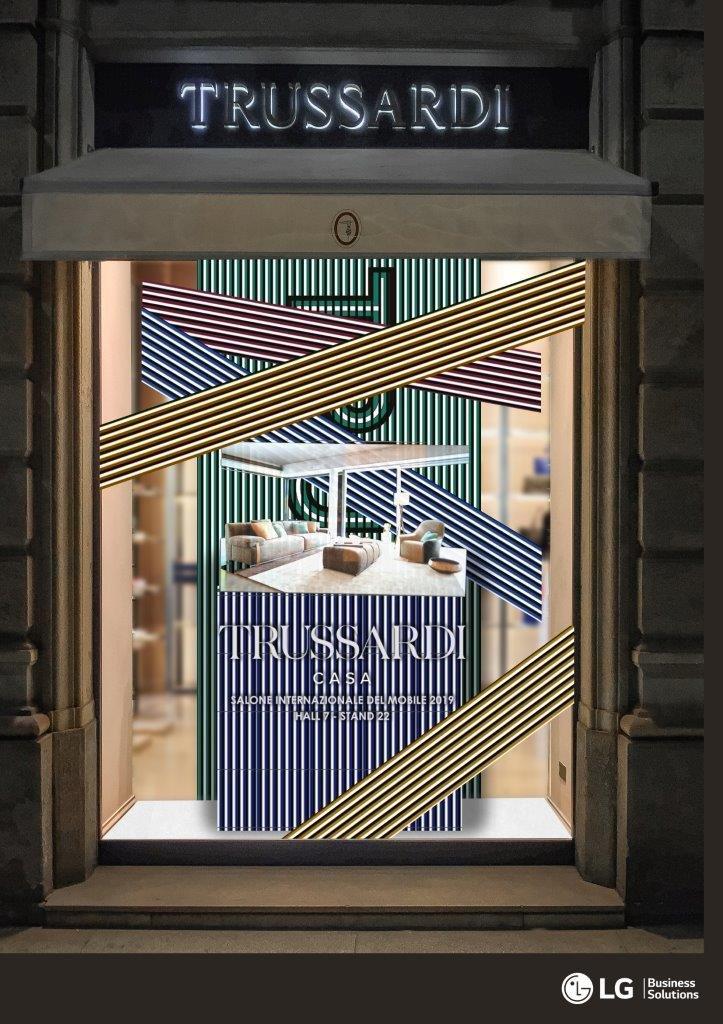 Transparentes OLED von LG bei Trussardi (Foto: LG)