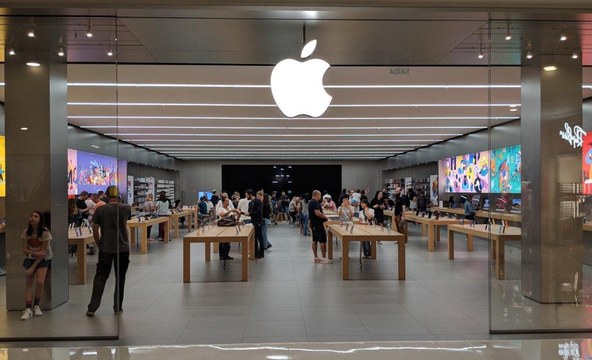 Bei Apple bleibt die LED-Wand fast schwarz (Foto: invidis)