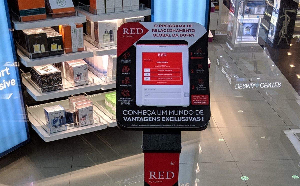 Dufry Red am Flughafen Sao Paulo GRU (Foto: invidis)