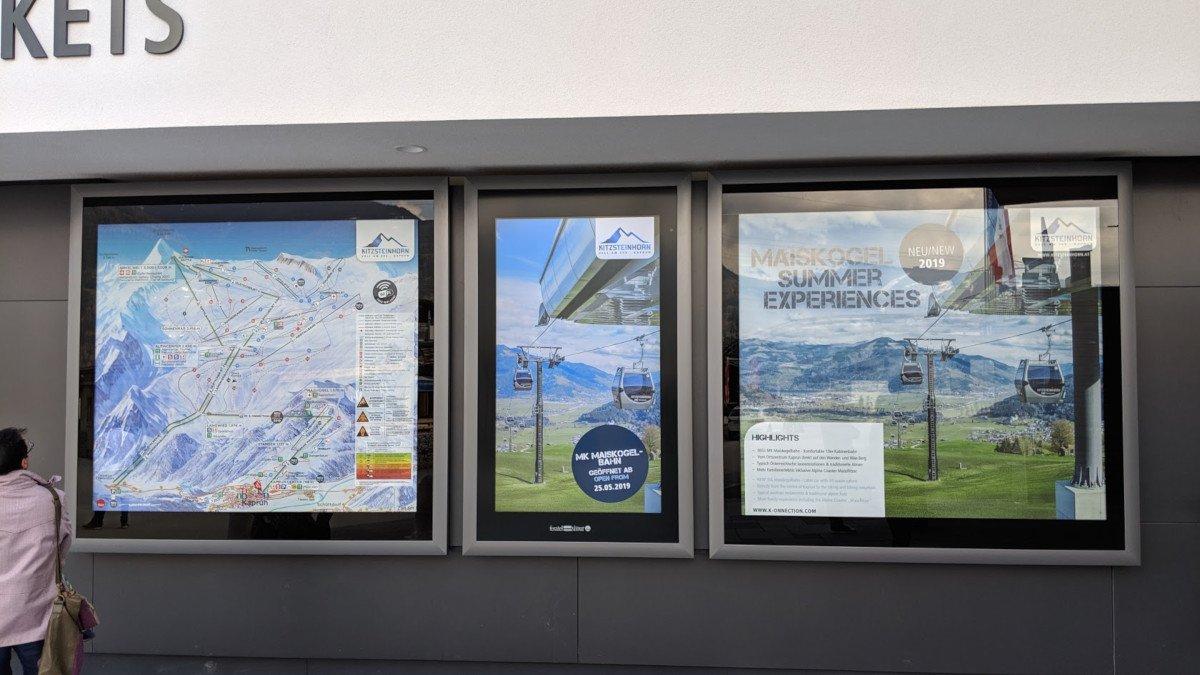 Feratel Display im Kaprun Center (Foto: invidis)