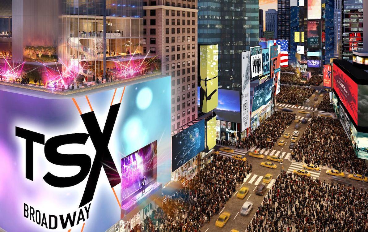 Erneut wird am Times Square ein rekordverdächtiger Screen installiert (Rendering: L&L Holding)